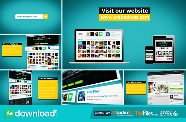 dynamic website promotion  videohive