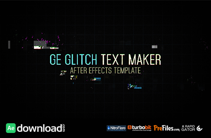 Ge Glitch Text Maker Free Download After Effects Templates