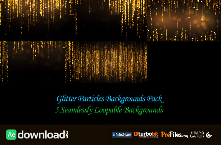 GLITTER PARTICLES BACKGROUNDS PACK (VIDEOHIVE PROJECT) - FREE
