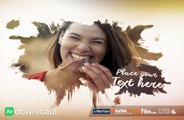 INK DROPS SLIDESHOW Free Download After Effects Templates