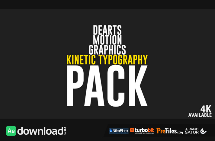 Kinetic Typo Pack Free Download After Effects Templates