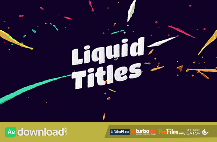 Liquid Animation Titles Free Download After Effects Templates-Recovered