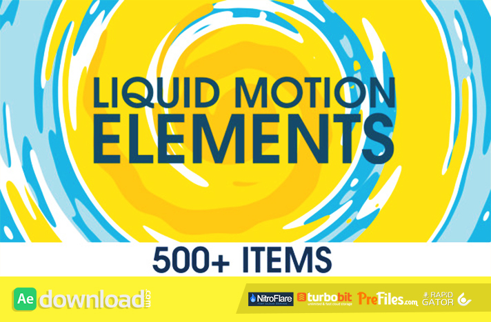 Liquid Motion Elements Free Download After Effects Templates