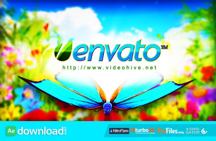 Logo Featuring Butterflies in Natural Environment