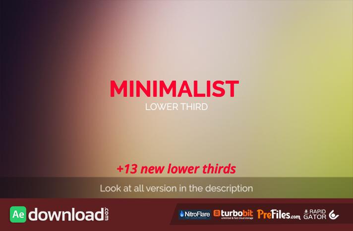 minimalist lower third  videohive  - free download