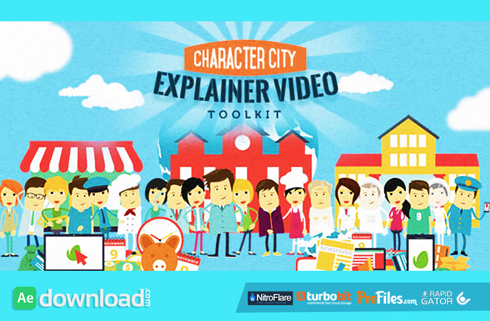 Mega Explainer toolkit Character city Free Download After Effects Templates