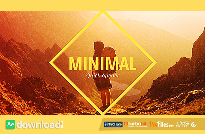 Minimal Opener Slideshow Free Download After Effects Templates