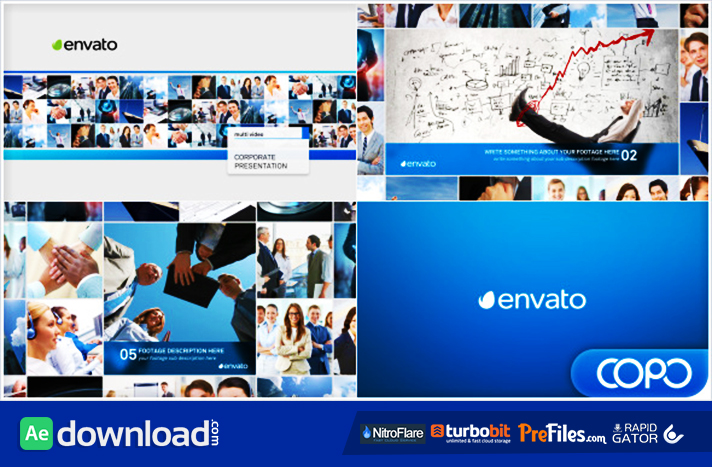 Multi Video Corporate Presentation Free Download After Effects Templates