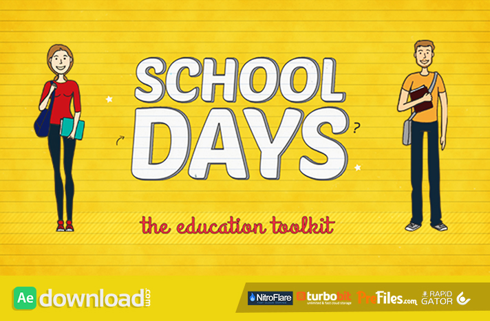 School Days Toolkit Free Download After Effects Templates