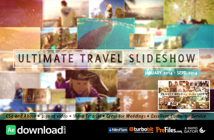 Ultimate Travel Slideshow Free Download After Effects Templates