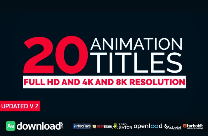 20 Title Animation free download (videohive template)