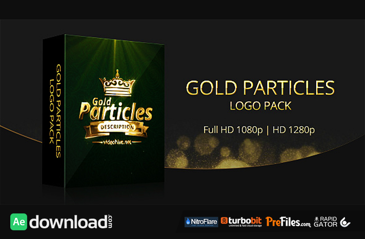 Gold Particles Logo Pack