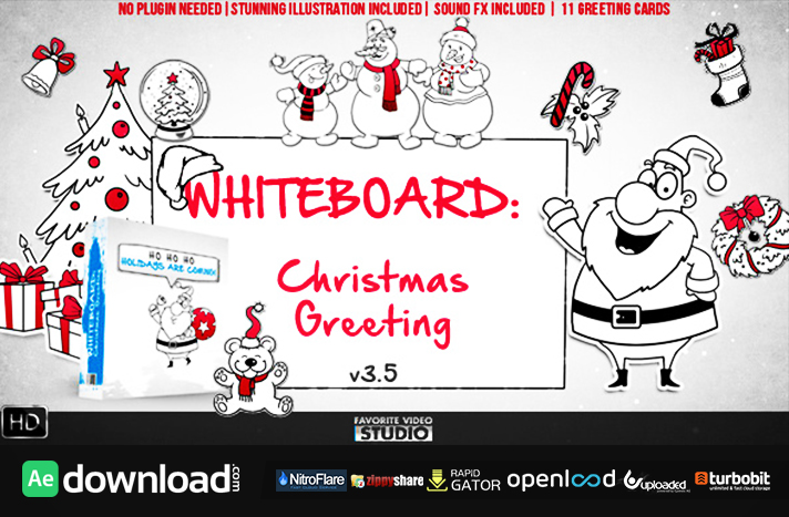 Holidays Whiteboard Greetings Pack