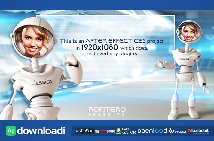 I Robot free after effects templates