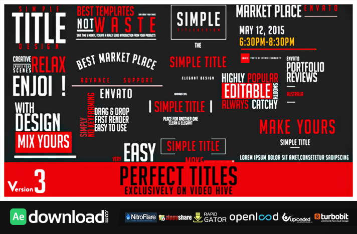 PERFECT TITLES (VIDEOHIVE PROJECT) FREE DOWNLOAD - Free