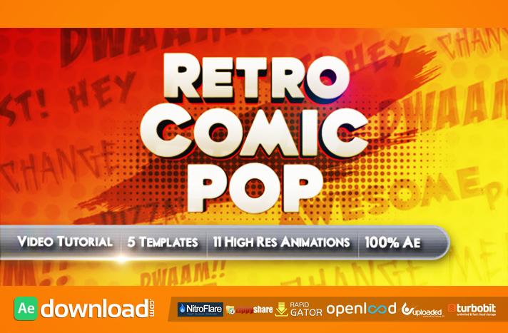 Retro Comic Pop free download (videohive template) - Free
