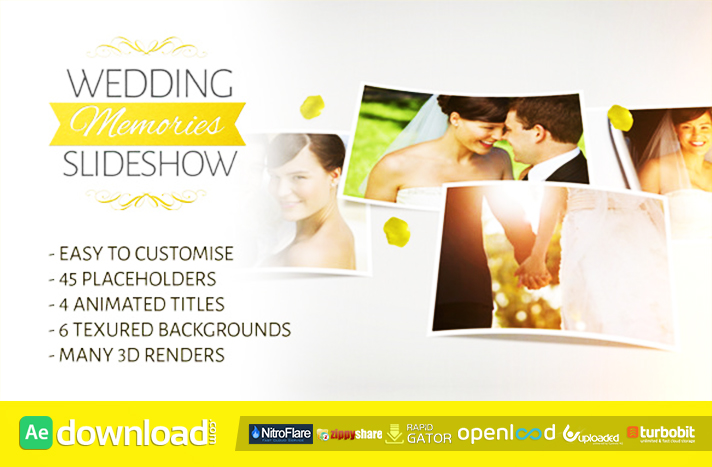 WEDDING MEMORIES SLIDESHOW - FREE AFTER EFFECTS PROJECT