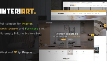 InteriArt V11 Furniture Interior WordPress Theme Free Download