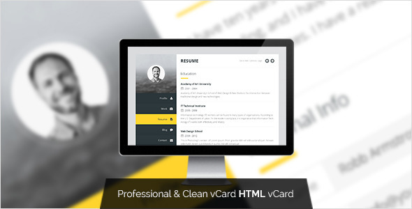 Premium Layers V1.0 U2013 HTML VCard U0026 Resume Template Free Download  Wordpress Resume Template