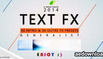 TEXT FX PACK II - AFTER EFFECTS PROJECT (FREE PLUGINS