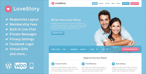 dating website bootstrap