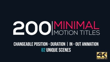videohive minimal title pack after effects templates free after