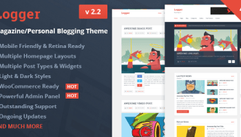 Logger V2 4 Magazine Personal Blogging Theme Free Download Free