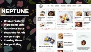 Neptune v311 theme for food recipe bloggers chefs free neptune v40 theme for food recipe bloggers chefs free download forumfinder Choice Image