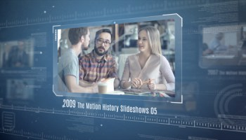 the motion history slideshows free after effects template