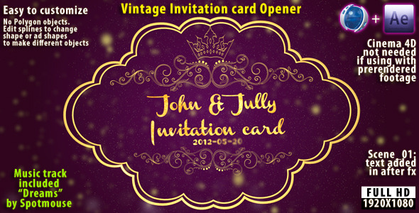 Vintage Invitation Card - After Effects Template