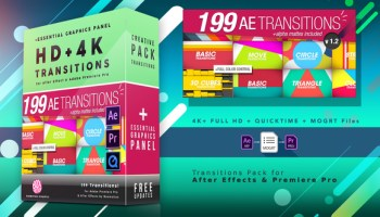TRANSITIONS PACK - PREMIERE PRO TEMPLATES - Free After Effects