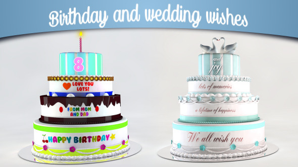 VIDEOHIVE BIRTHDAY AND WEDDING WISHES