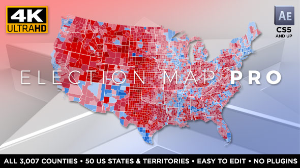 VIDEOHIVE ELECTION MAP PRO