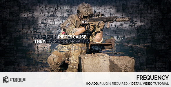 VIDEOHIVE FREQUENCY FREE AFTER EFFECTS TEMPLATE