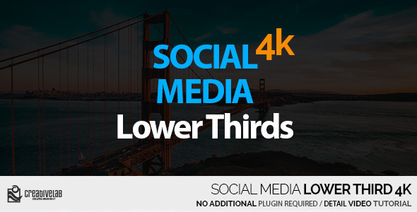 VIDEOHIVE SOCIAL MEDIA LOWER THIRDS 4K