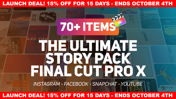 VIDEOHIVE THE ULTIMATE STORY PACK - APPLE MOTION TEMPLATES - Free