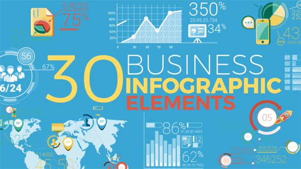 VIDEOHIVE 30 BUSINESS INFOGRAPHIC ELEMENTS
