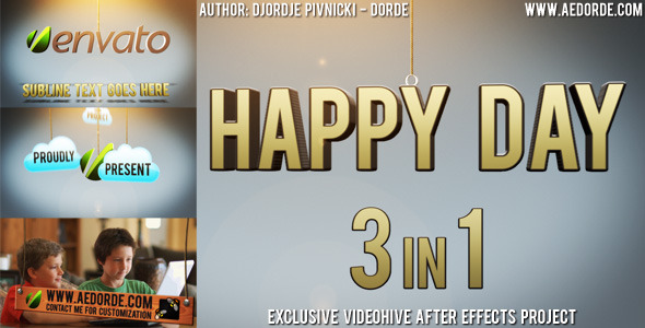 VIDEOHIVE HAPPY DAY – 3IN1