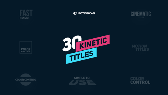 VIDEOHIVE KINETIC TITLES 18335359