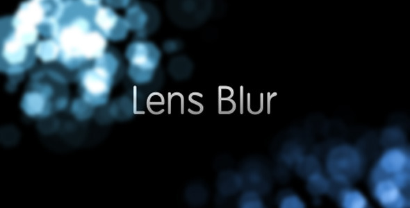 VIDEOHIVE LENS BLUR INTRO