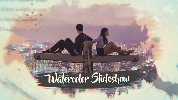 VIDEOHIVE INK WATERCOLOR SLIDESHOW | OPENER