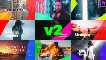 VIDEOHIVE SIMPLE MOGRT GRAPHICS TITLES V3 - PREMIERE PRO - Free