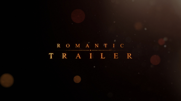 VIDEOHIVE ROMANTIC | TRAILER TITLES