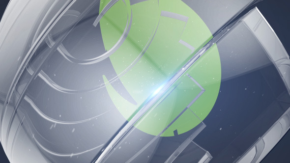 VIDEOHIVE GLASS SPHERE LOGO