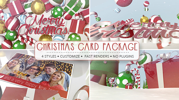 VIDEOHIVE CHRISTMAS CARD PACKAGE
