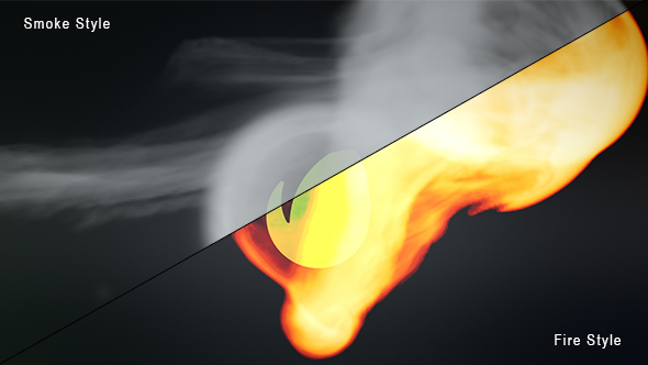 VIDEOHIVE SMOKE AND FIRE LOGO REVEAL