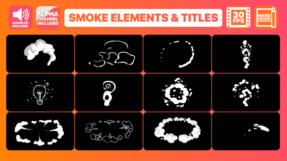 VIDEOHIVE FLASH FX SMOKE ELEMENTS AND TITLES