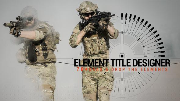VIDEOHIVE ELEMENT TITLE DESIGNER