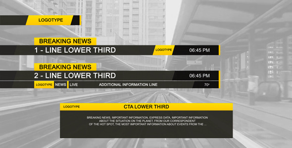 Lower Third Black Design Videohive Free After Effects Template