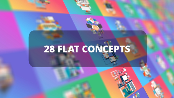 VIDEOHIVE BUNDLE BUSINESS FLAT CONCEPTS